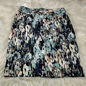 Ann Taylor Printed Pencil Skirt Size 0
